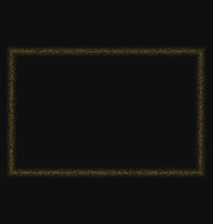 Golden glitter halftone dotted frame vector