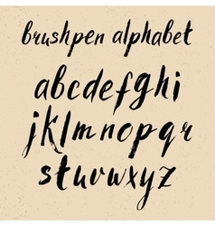 Hand drawn brushpen alphabet vector