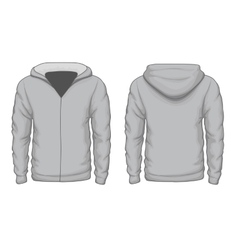Hoodies shirt template vector