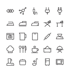 Hotel Outline Icons 6 vector image
