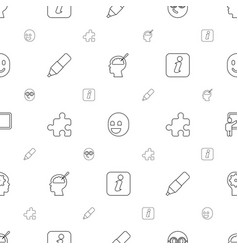 idea icons pattern seamless white background vector image