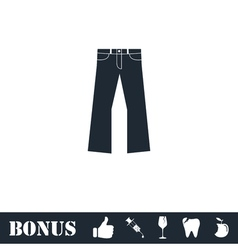 Jeans icon flat vector image
