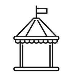 kid castle tent icon outline style vector image