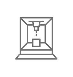 Laser cut machine line icon vector