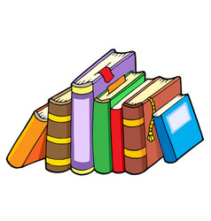line of various books vector image