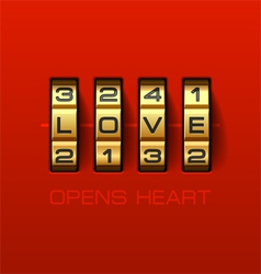 Love Opens Heart vector