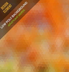 Low poly abstract background Orange polygonal vector image