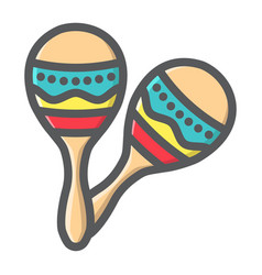 mexican maracas filled outline icon music vector image