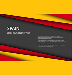 modern background with spanish colors and grey vector image