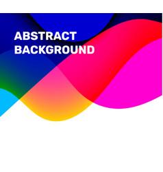 multicolor transparent business wave background vector image