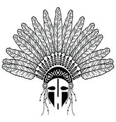 Native american warrior vector