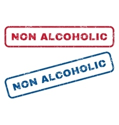 Non Alcoholic Rubber Stamps vector