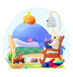 Nursery wall art for kids vector