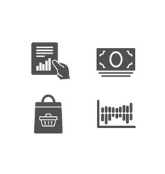online buying document and cash money icons vector image