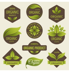 Organic products labels vector image