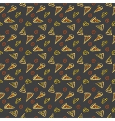 Pattern Pepperoni pizza color vector image