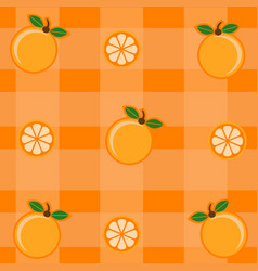pattern with orange and orange leaves vector image