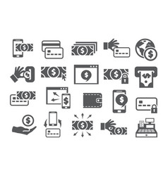 payment icons set vector image
