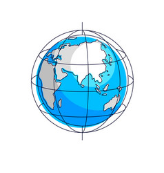 planet earth isolated on white background africa vector image
