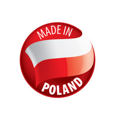 Poland flag on a white vector