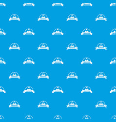 protester human pattern seamless blue vector image