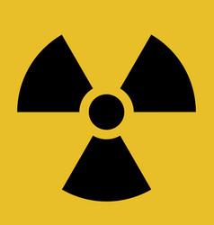 Radiation warning symbol black and yellow vector