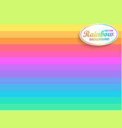 Rainbow horizontal background vector
