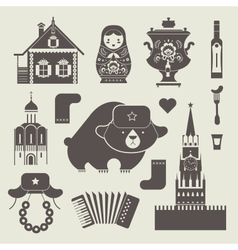 Russian icons vector