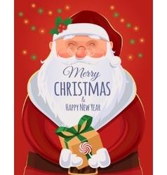 Santa Claus Christmas greeting card poster vector