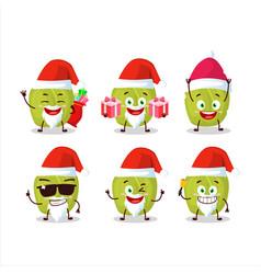 Santa claus emoticons with amla cartoon character vector