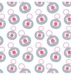 Seamless pattern toy vintage tamagotchi vector