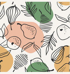seamless pattern with simple pears trendy vector image