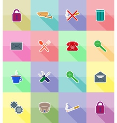 service flat icons 18 vector image