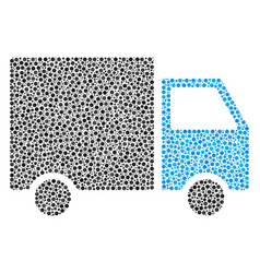 shipment van composition of small circles vector image