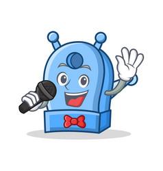 Singing pencil sharpener character cartoon vector