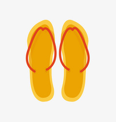 slippers female multicolored isolated on white vector image