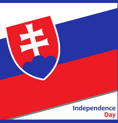 Slovakia independence day vector