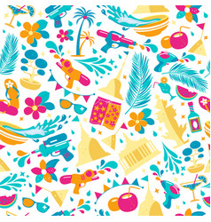 Songkran festival in thailand colorful seamless vector
