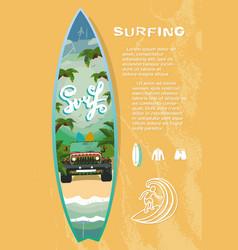 Surf board sale vector