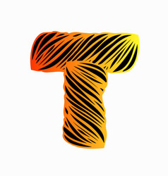 T-letter-design vector