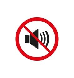 The no sound icon Volume Off symbol Flat vector