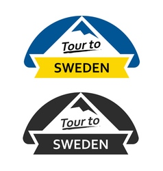 Tour to Sweden Set of Badges vector image