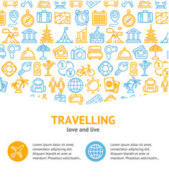 travel and tourism concept infographics banner vector image vector image