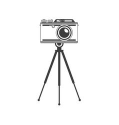 tripod camera vector image