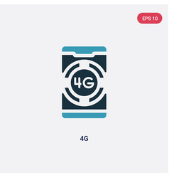 Two color 4g icon from mobile app concept vector