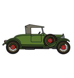 Vintage green roadster vector