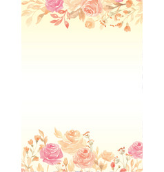 Watercolor yellow gradient paper background with vector