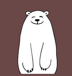 white bear sketch for your design vector image