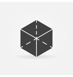 3d cube logo vector image