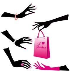 female hands set vector image vector image